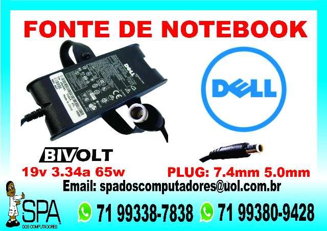Fonte Carregador Notebook Dell 65w 19v 3.34a em Salvador Ba