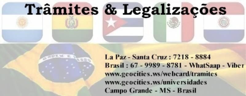 Trâmites e Legalizações