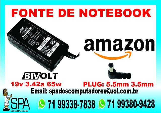 Fonte Carregador Notebook Amazon em Salvador Ba