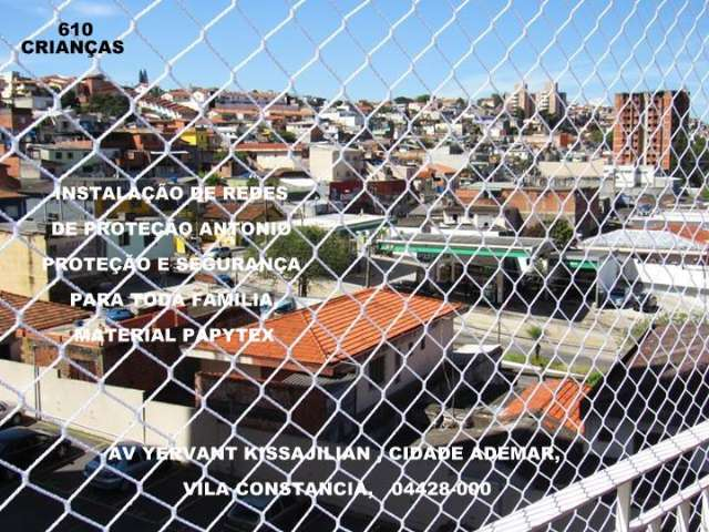 Redes de Proteção na Cidade Ademar, Av. Yervant Kissajikian, (11)  98391-0505