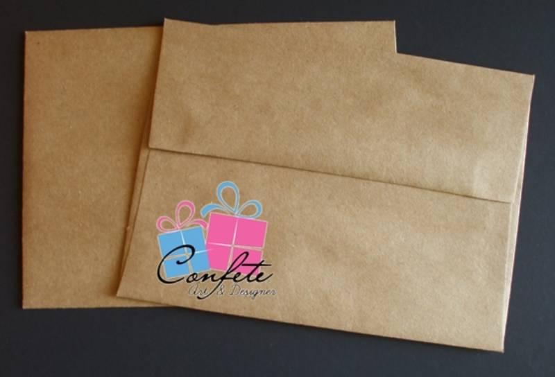 50 Envelopes De Papel Color Plus
