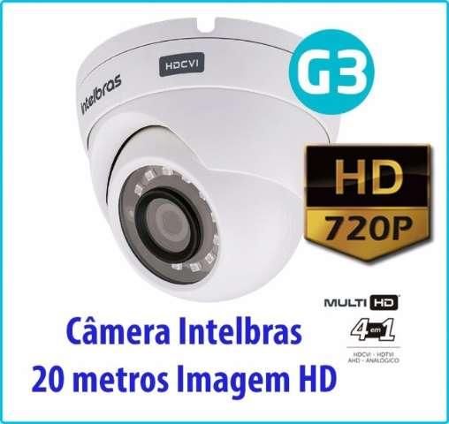 Câmera de Segurança Intelbras 20 metros HD com Infravermelho