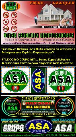 Dedetização Cursos 11 96424 9997 - Presencial e À Distancia Td Brasil