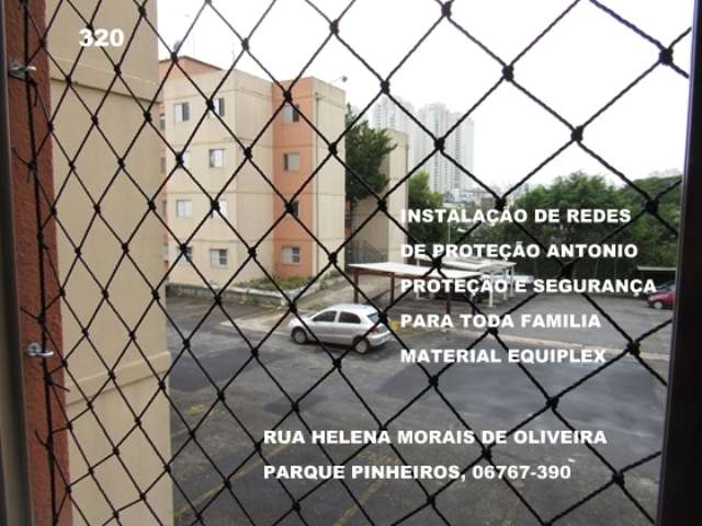 Redes de Proteção no Parque Pinheiros, Taboão da Serra, (11)  98391-0505