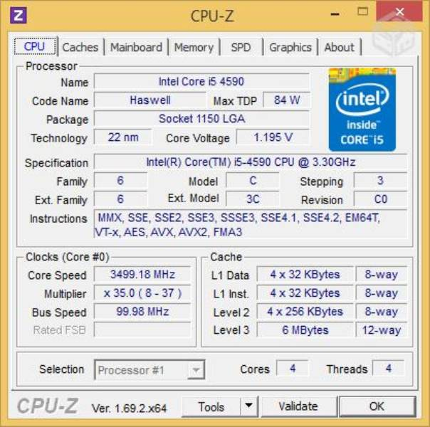 CPU Core i5 4GB 500HD